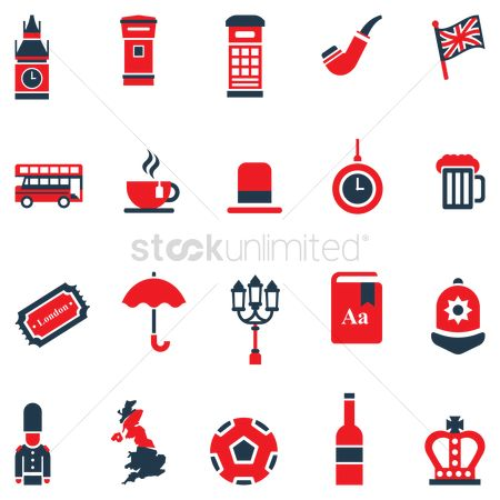 Patriotic : United kingdom general icons