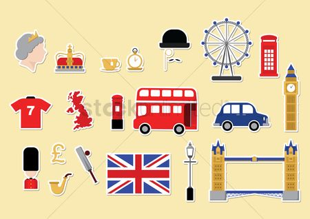 Architectures : United kingdom icons set