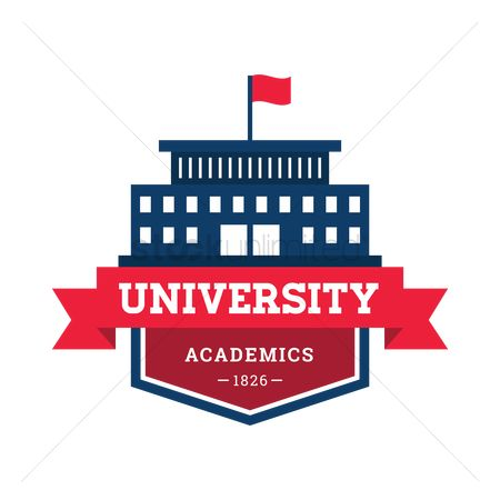 Educational banner : University badge design