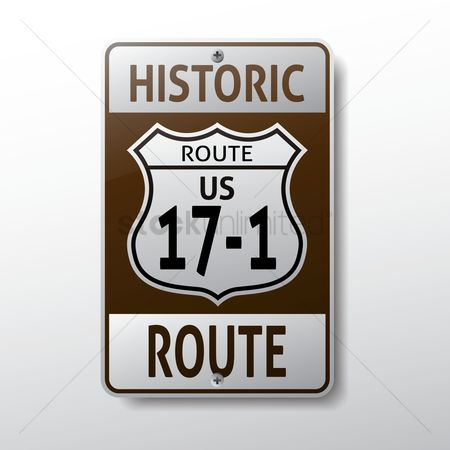 17 : Us 17-1 route sign
