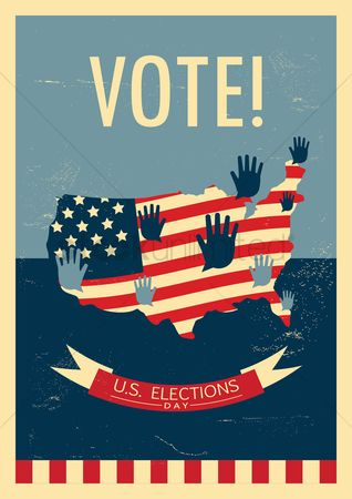 Votes : Us elections poster