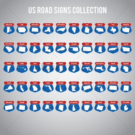 Indiana : Us road sign collection