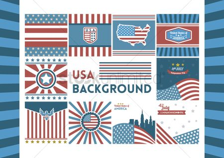 Patriotic : Usa background collection