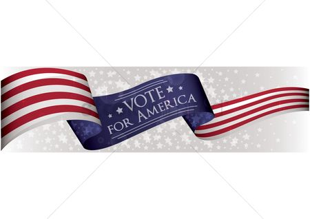 Votes : Usa election banner