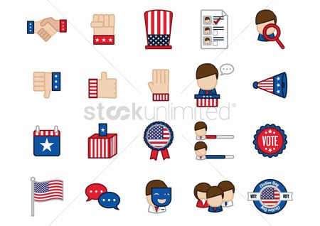 Votes : Usa election icons