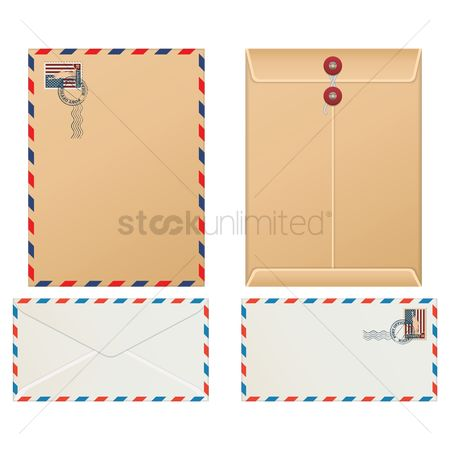 United states : Usa envelope set
