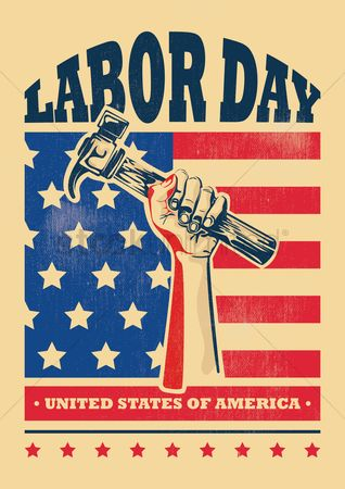 Hammers : Usa labor day poster