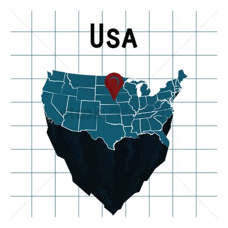 Indiana : Usa map