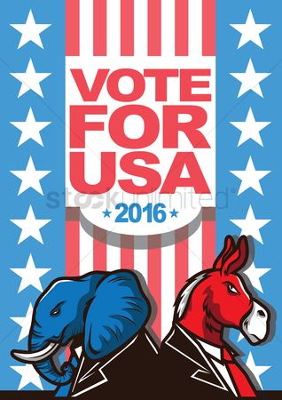 United states : Usa presidential election poster