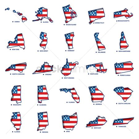 Flag : Usa states maps