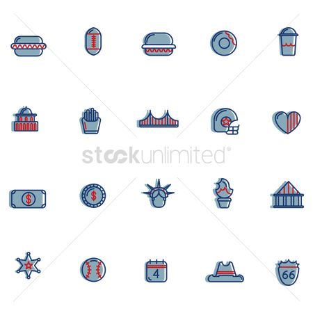 White house : Usa symbols collection