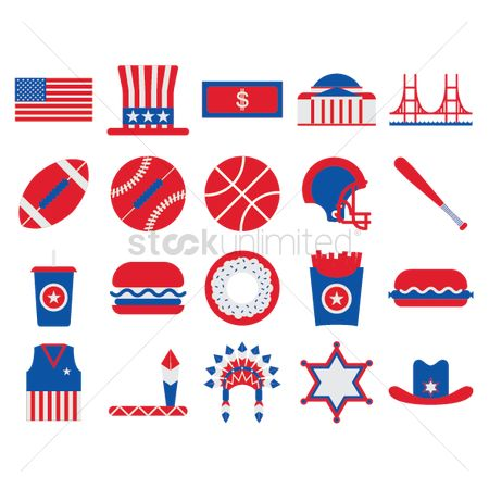 United states : Usa symbols collection