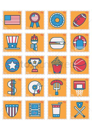 Doughnut : Usa symbols collection