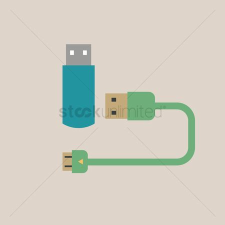 Connector : Usb drive and cable