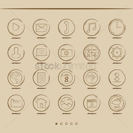 Calculations : User interface icon set