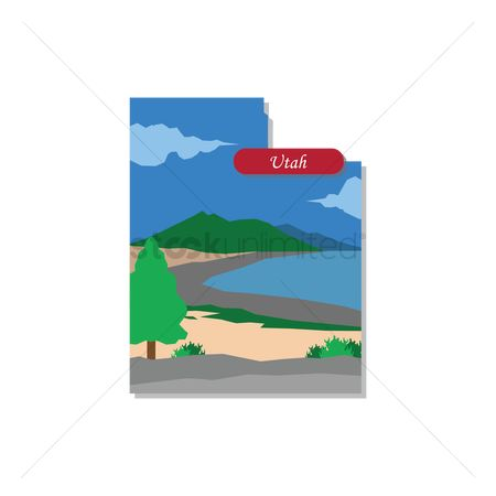 Great salt lake : Utah state map