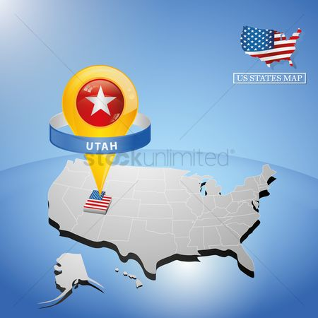 Utah map : Utah state on map of usa