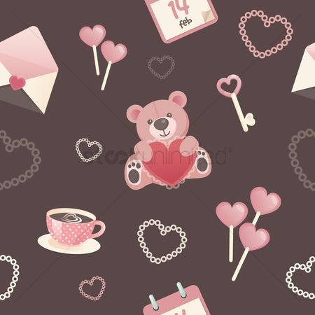 Teddybear : Valentine day background