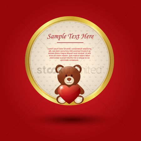 Teddybears : Valentine s day card with teddy bear