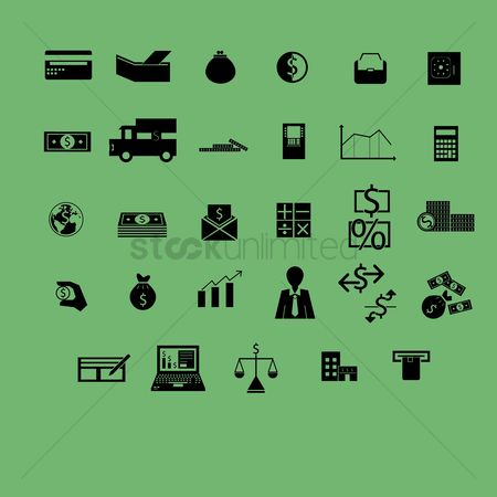 Agents : Various banking and finance icons