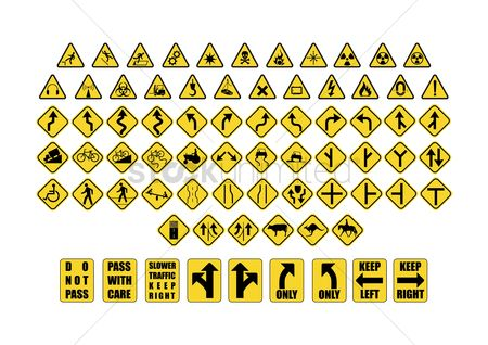 Caution : Various collection of signage