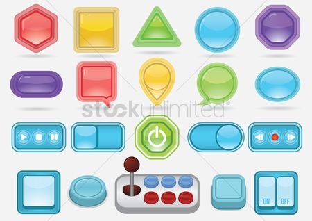 Power button : Various design of buttons
