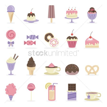 Confectionery : Various desserts and beverage