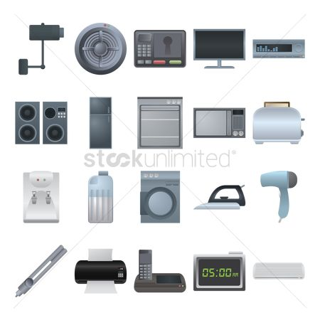 Stove : Various electrical appliance