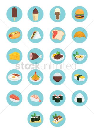 Croissants : Various food items