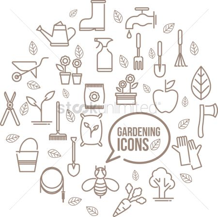 Apple : Various gardening icons