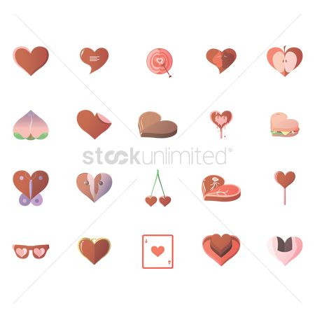 Valentines day : Various heart icons