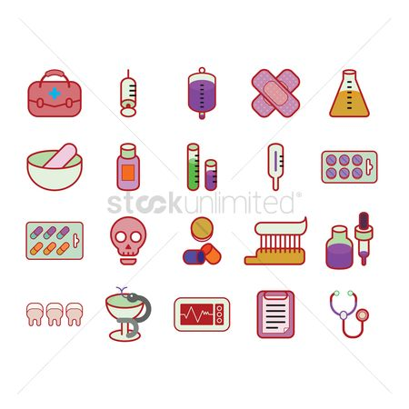Health cares : Various medical icons