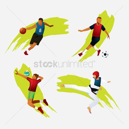 Volleyballs : Various sports activities