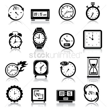 Time : Various type of watches