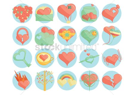 Jar : Various valentine icons