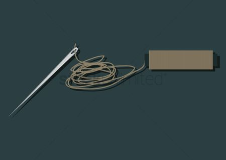 Needle : Vector of a thread and needle