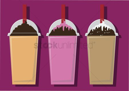 Dairy : Vector of blended drinks