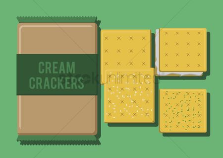 Crisp : Vector of cream crackers