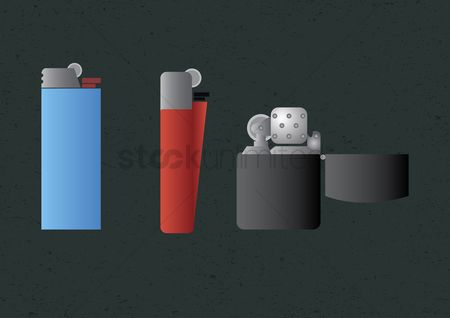 Lighter : Vector of various lighters
