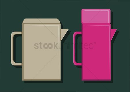 Pitcher : Vector of water containers
