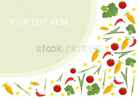 Greens : Vegetable background