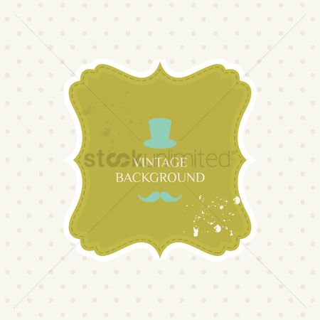 Moustache : Vintage background