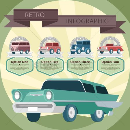 Old fashioned : Vintage car infographic