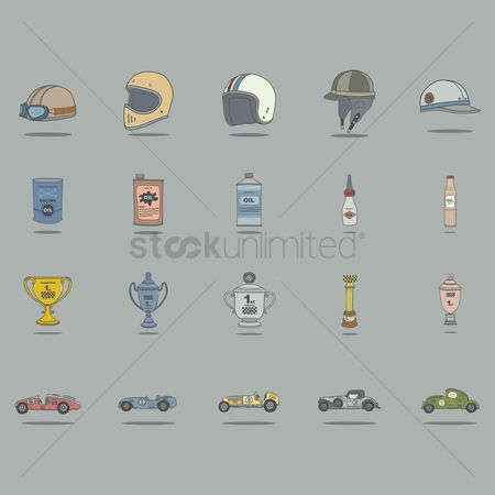 Accessories : Vintage car racing accessories collection