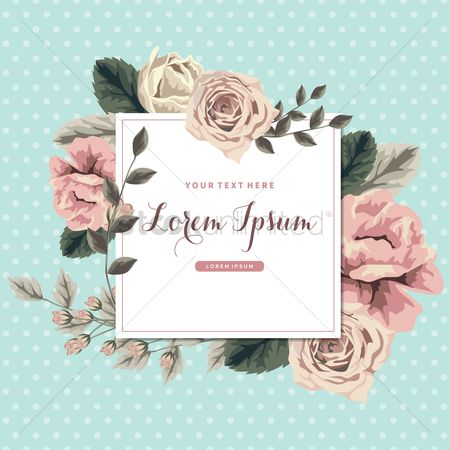 Borders : Vintage floral card design