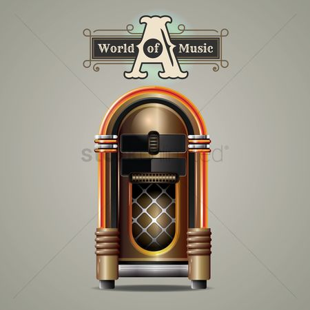 Audio : Vintage jukebox