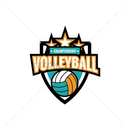 Recreation : Volleyball championship emblem