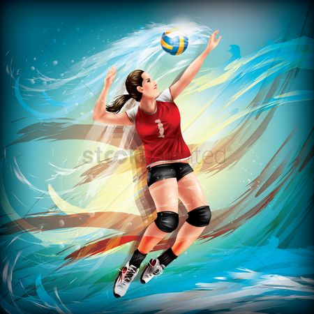 Sports : Volleyball player in action