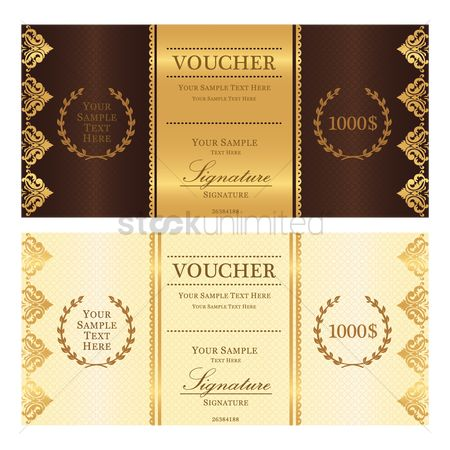 Currencies : Voucher template