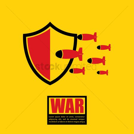 Combats : War concept with bullets